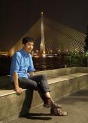(4)ラマ8世橋を背に[In_Front_of Rama_VIII_Bridge]